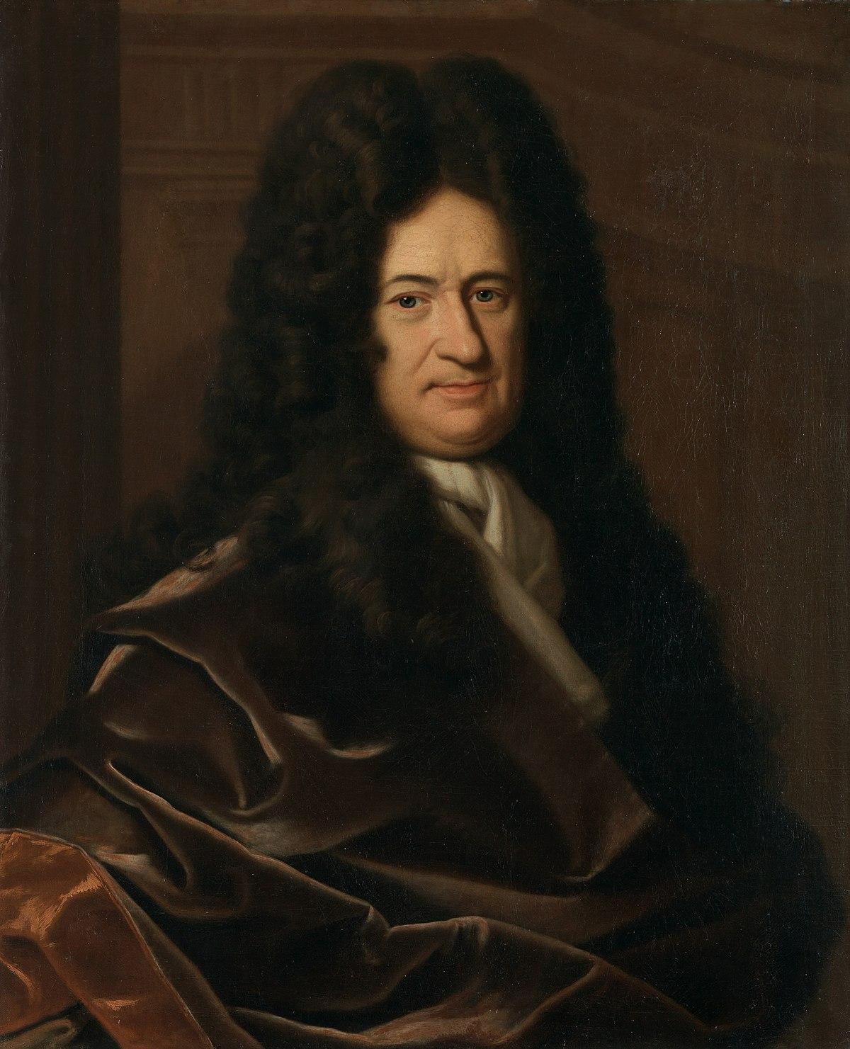 Gottfried Wilhelm Freiherr von Leibniz (* 1. Juli 1646 in Leipzig; † 14. November 1716 in Hannover)